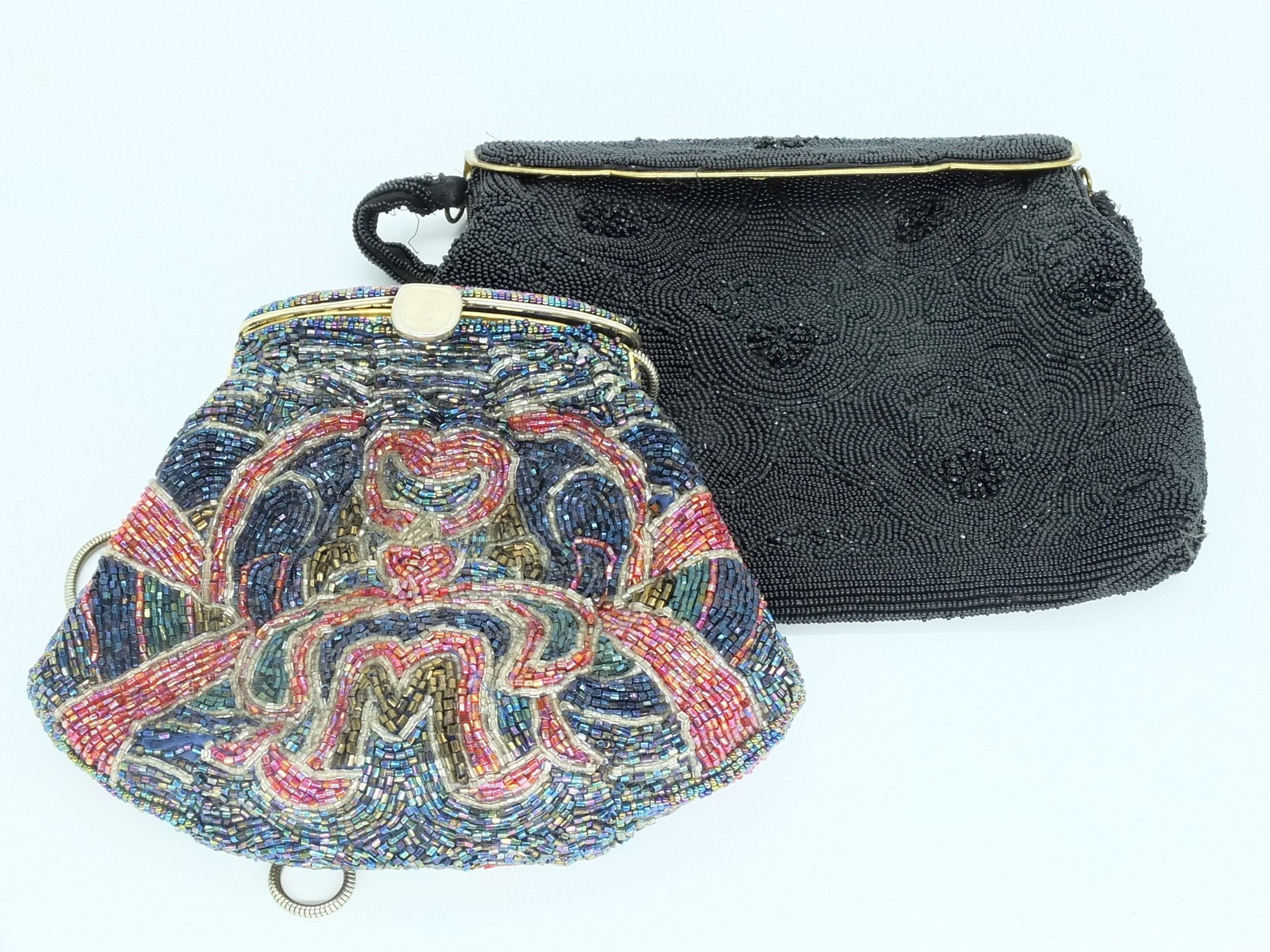 'Two Vintage Beadwork Purses'