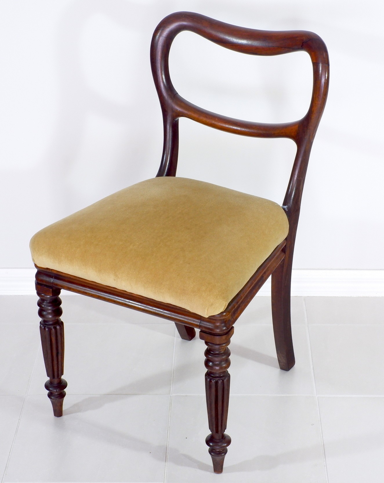 'Early Victorian Brazilian Rosewood Balloon Back Chair Circa 1840'