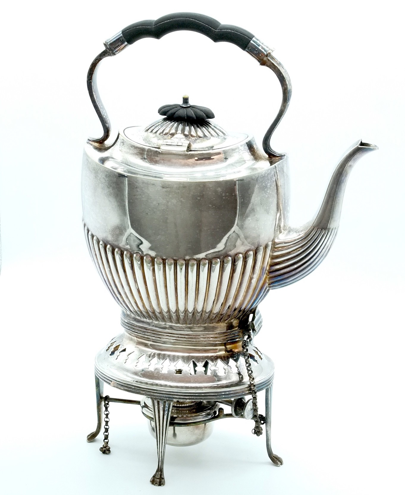 'Walker and Hall Silver Plate Spirit Kettle'