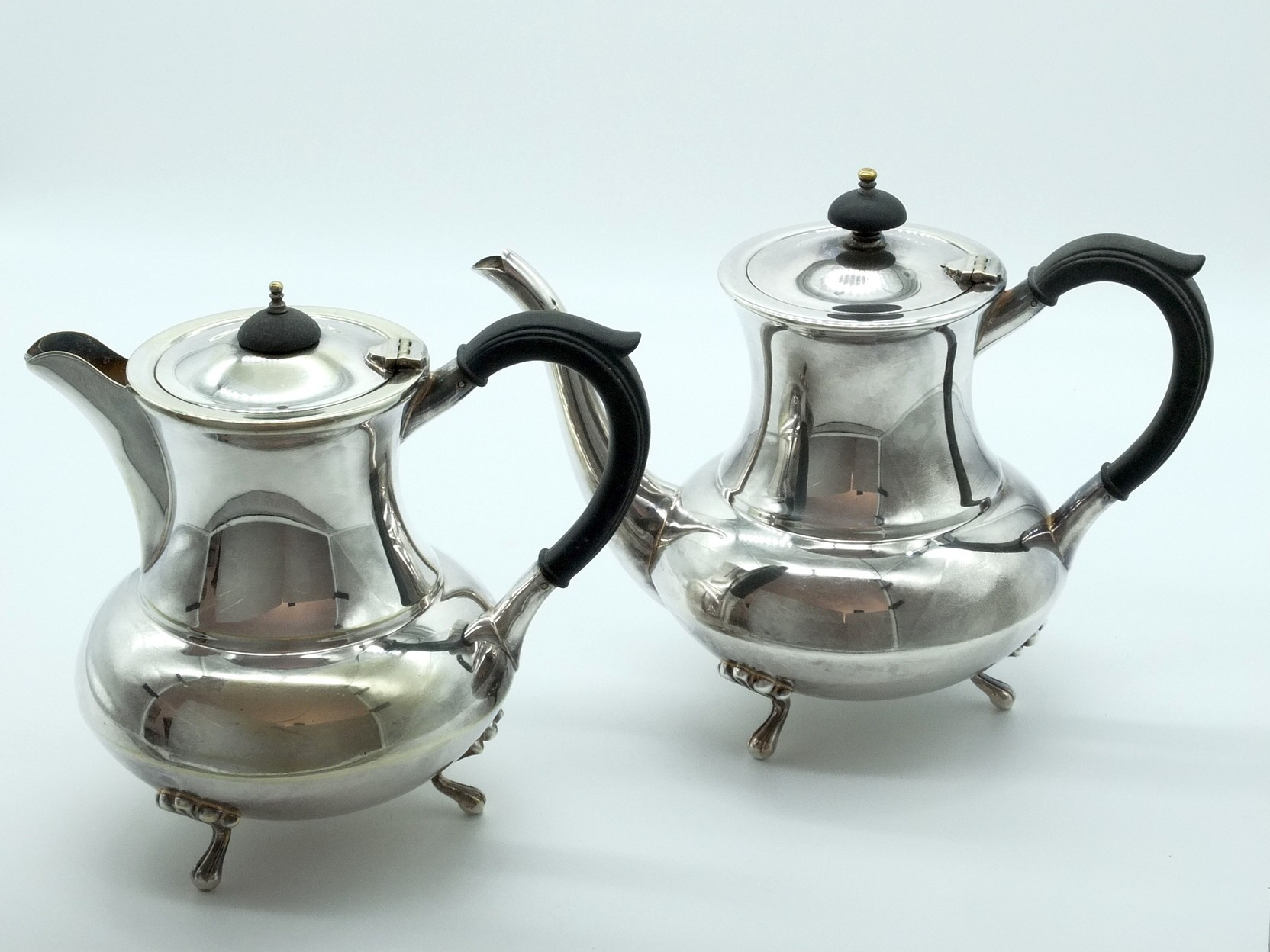'Two Paramount Silver Plate Coffee Pots'