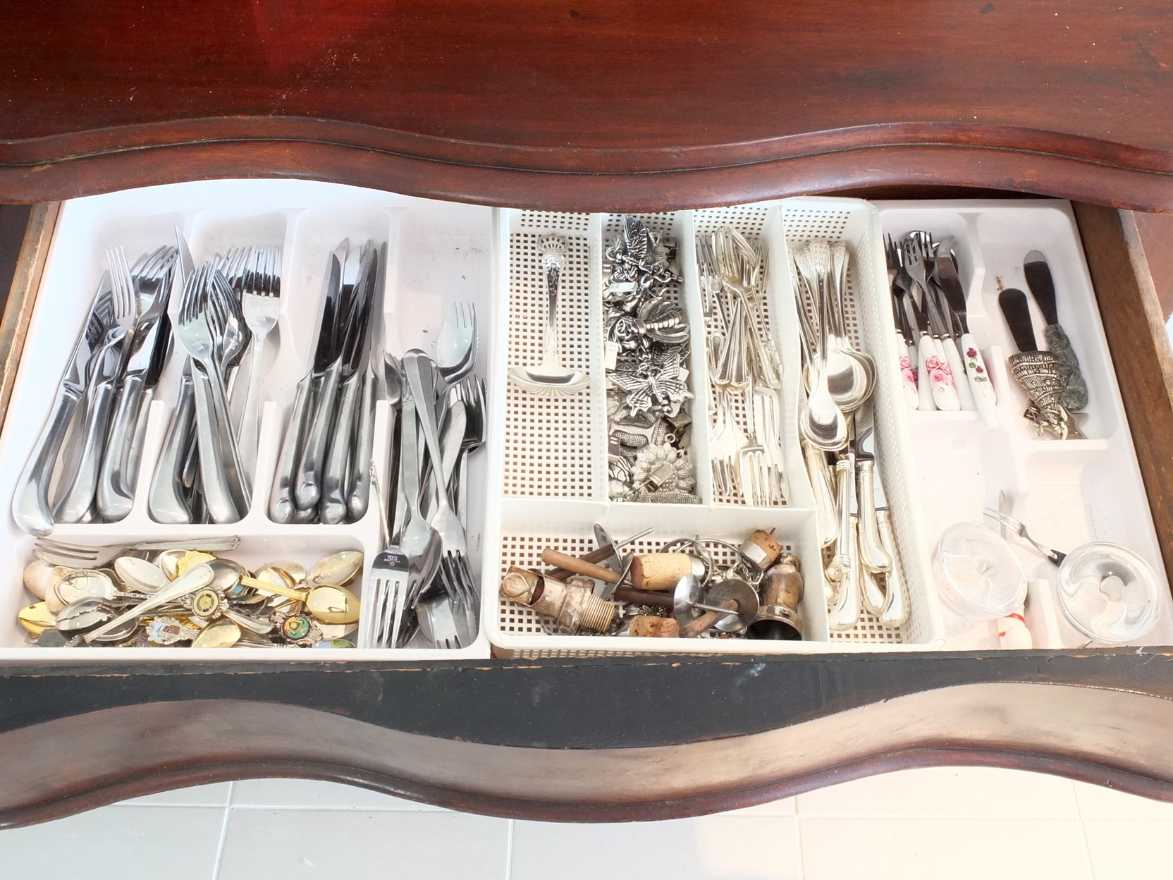 'Large Group of Silver Plate and Stainless Flatware, Including Fish Knives and Forks, Basting Spoons and More'
