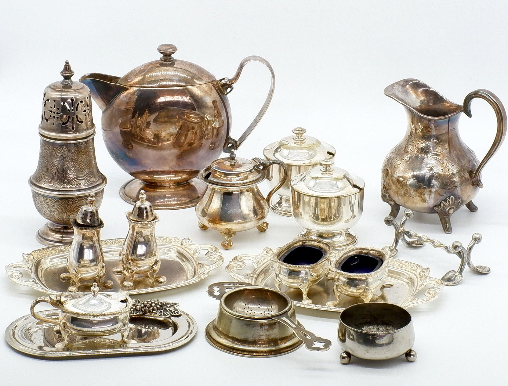 'Large Group of Silver Plate'