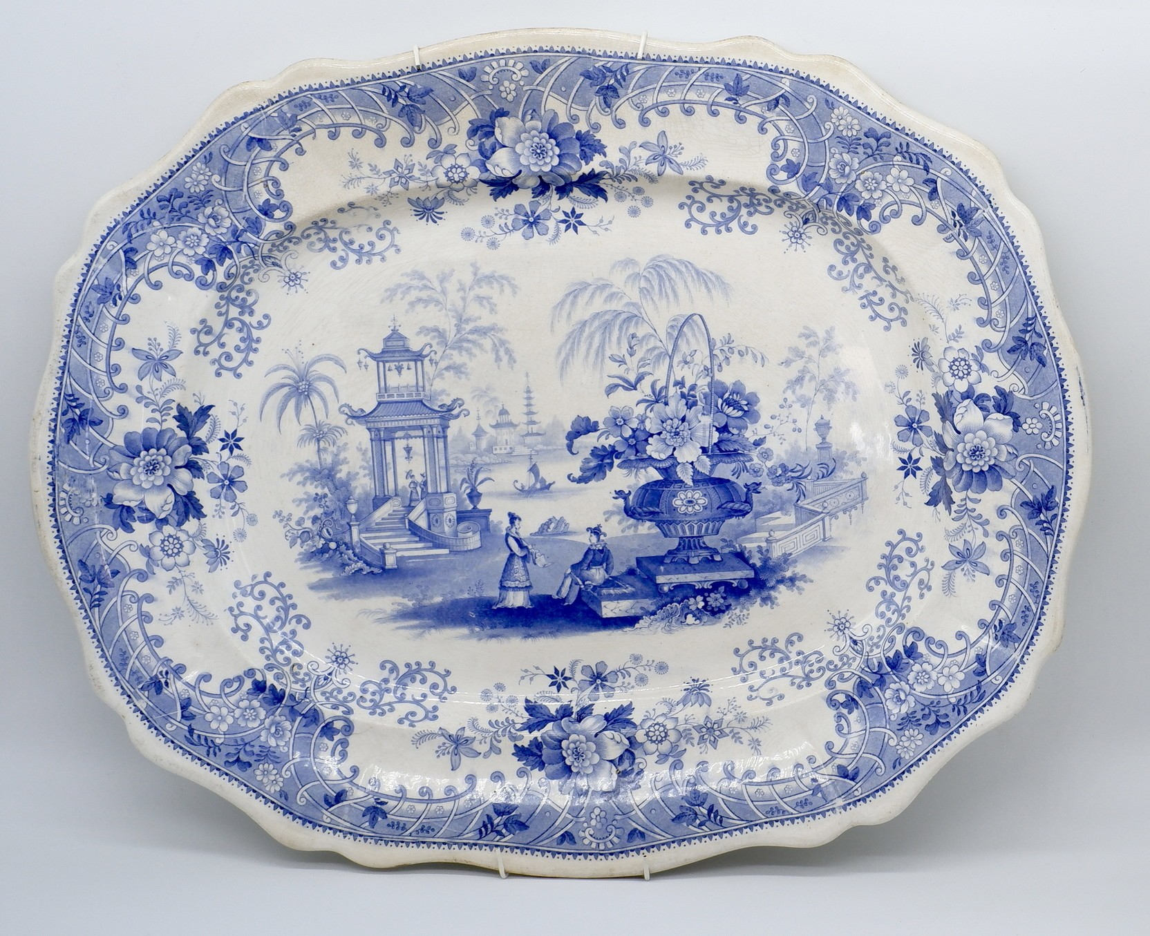 'Mid 19th Century Davenport Canton Pattern Large Serving Dish'