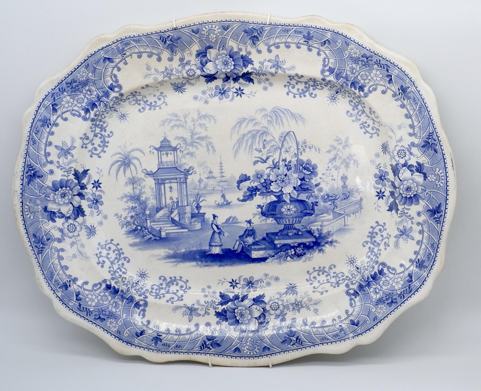 'Mid 19th Century Davenport Canton Pattern Large Serving Dish'