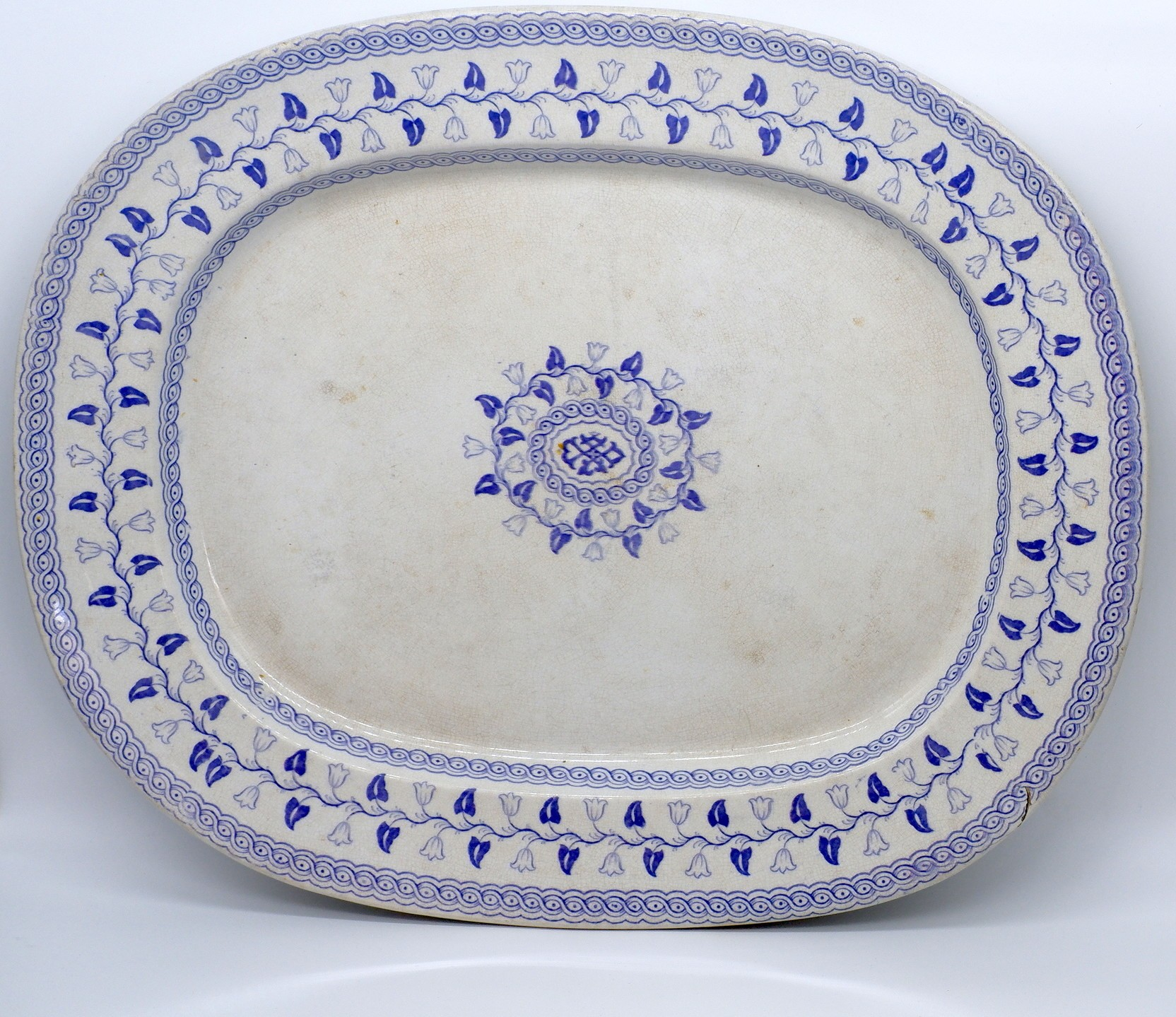 'Mid 19 Century Large English Serving Dish Marked Palace Pattern'