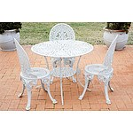 Vintage Cast Metal Alloy Outdoor Setting