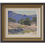 Geoffrey Davis (1926-) Monaro Pastoral Scene Oil on Board
