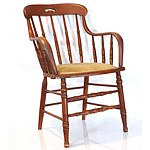 American Oak Spindle Back Captains Chair Circa 1900 Graced By Queen Elizabeth During Her 1970 Visit