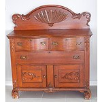 American Oak Art Nouveau Style Sideboard of Small Proportions Early 20th Century