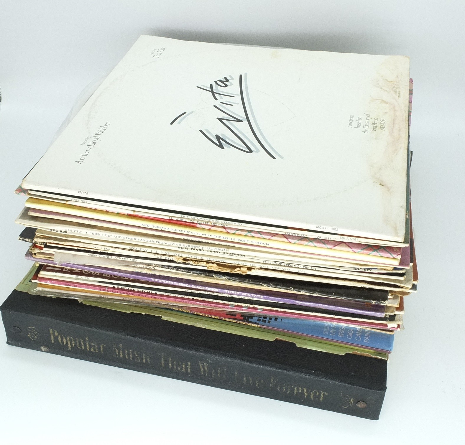 'Group of Records, Including Evita, King and I, When Little Violets Bloom, and More '