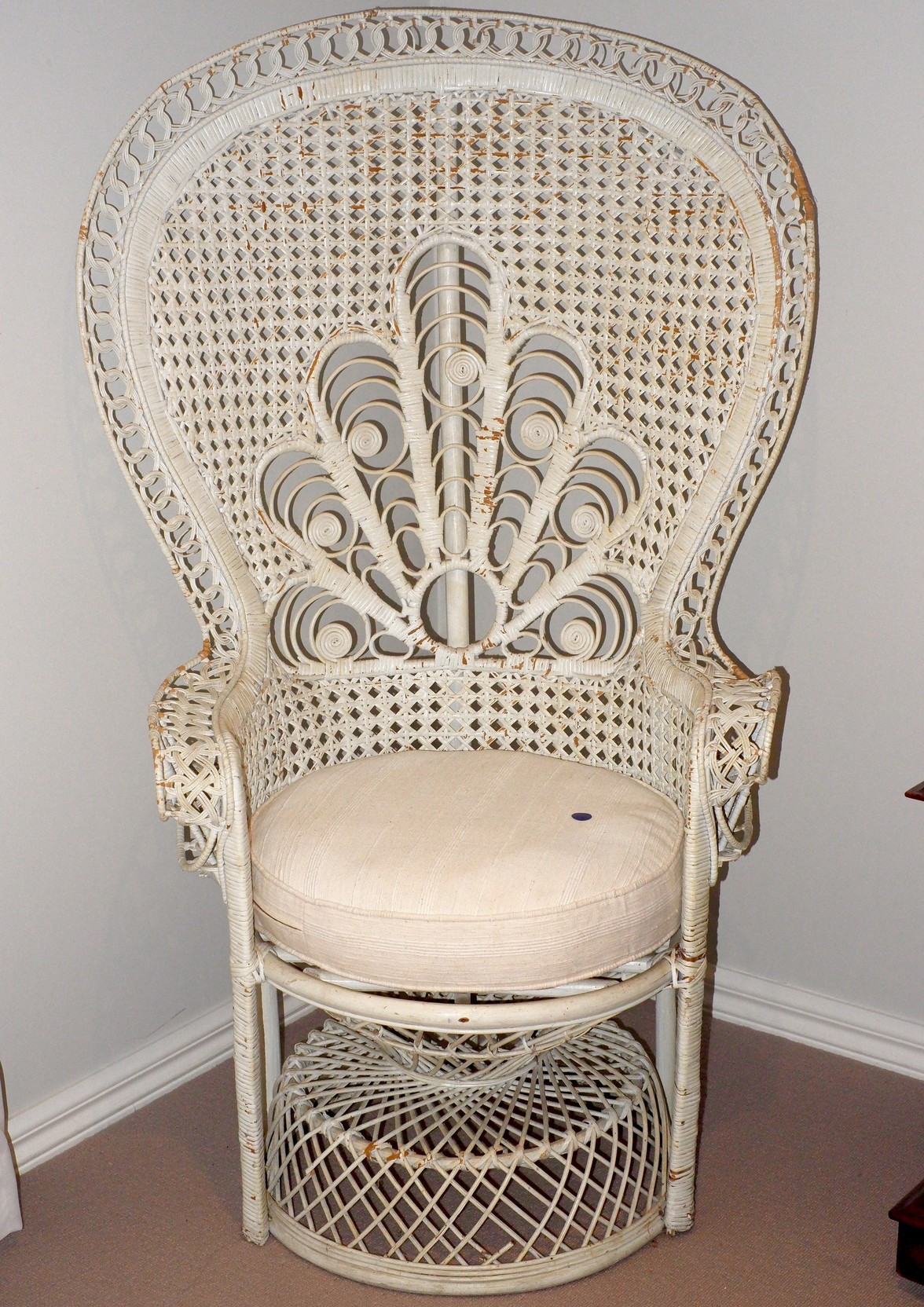 'Vintage Woven Cane Peacock Chair'