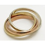 Tri-colour Gold ring 9ct Gold