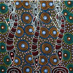 "WALLACE NUNGARI, Rose Colleen (b.1974): """"Dreamtime Sisters, Awelye, Arlatyeye (Womens Ceremony/Bush Yam)"