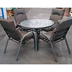 Five Piece Outdoor Dining Setting