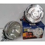 Narva Taurus Bull Lamp 8 Inch(220mm) Long Range Driving Lights - Lot of Two + 'image'