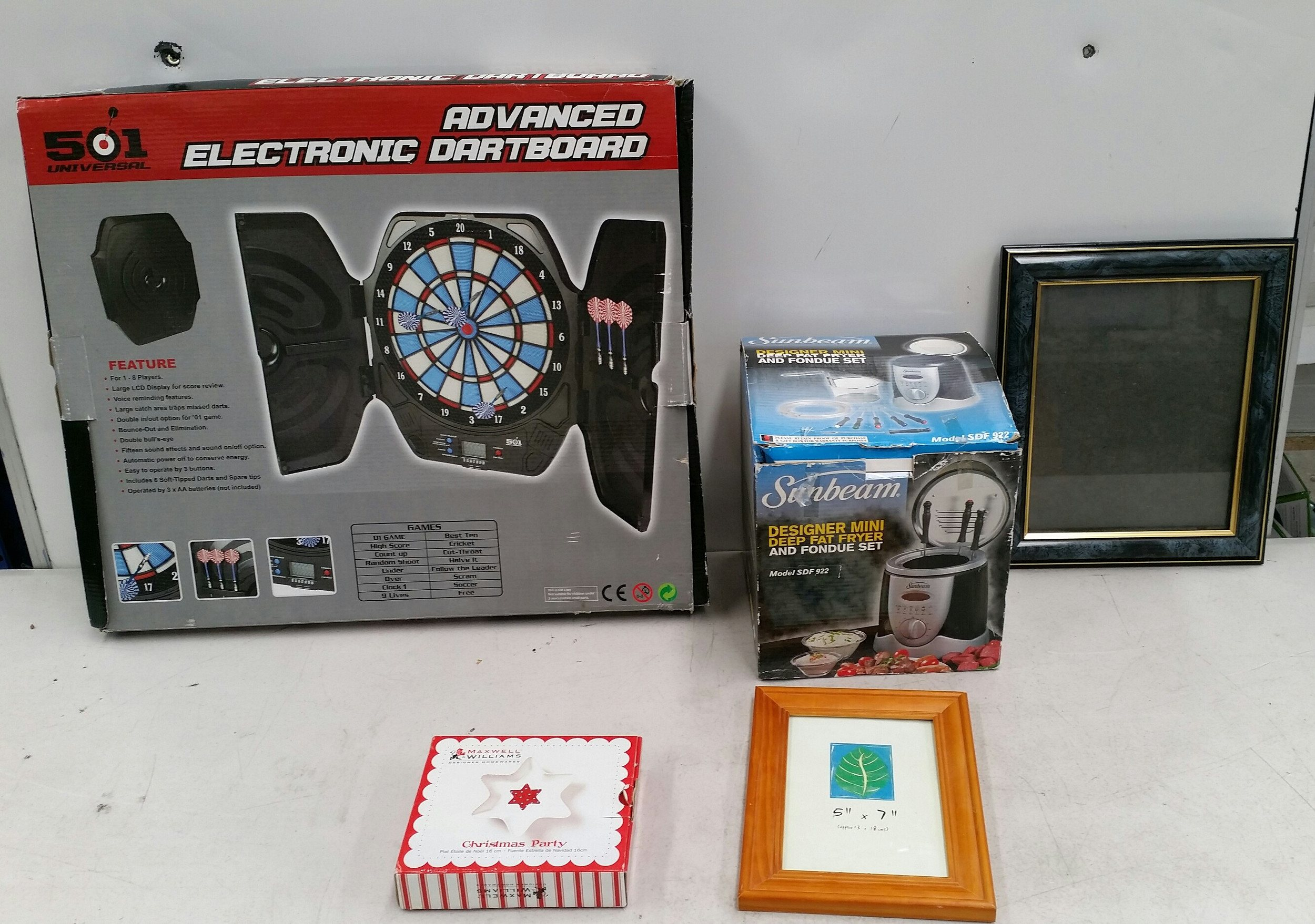 Mixed Household Goods Including 501 Universal Advanced Electronic Dartboard