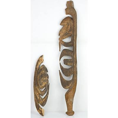 2 Yipwon Figures, Korewori River, Papua New Guinea