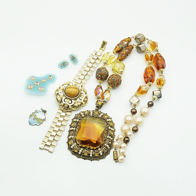Fabulous Costume Jewellery Necklace, Cuff Bracket and More