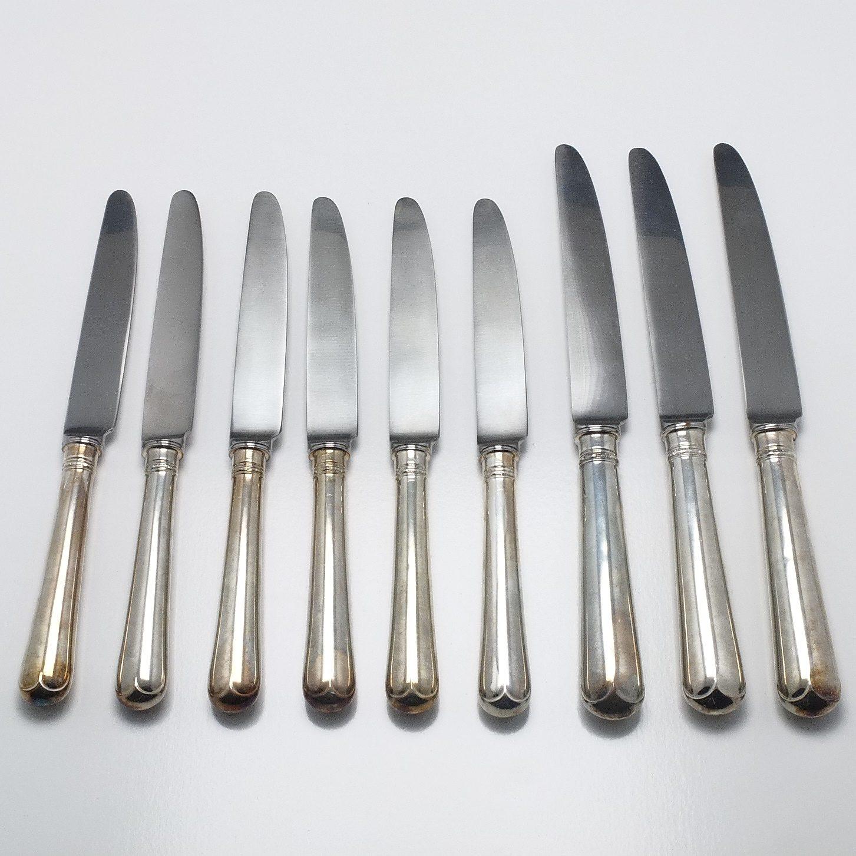 'Group of Sterling Silver Handled Entr?e and Mains Knives C J Vander Ltd Sheffield'