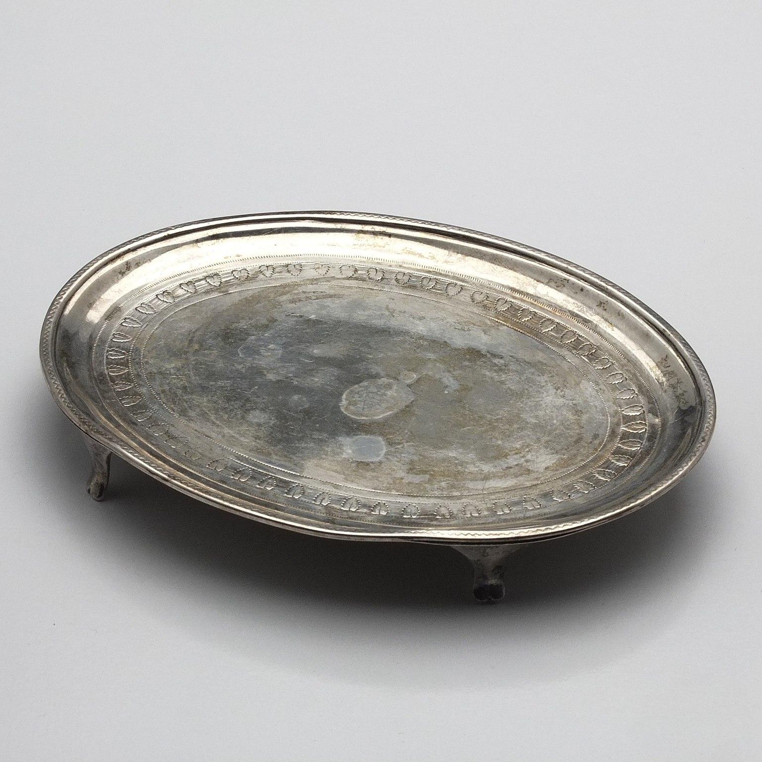 'George III Sterling Silver Bright Cut Trivet London 1801'
