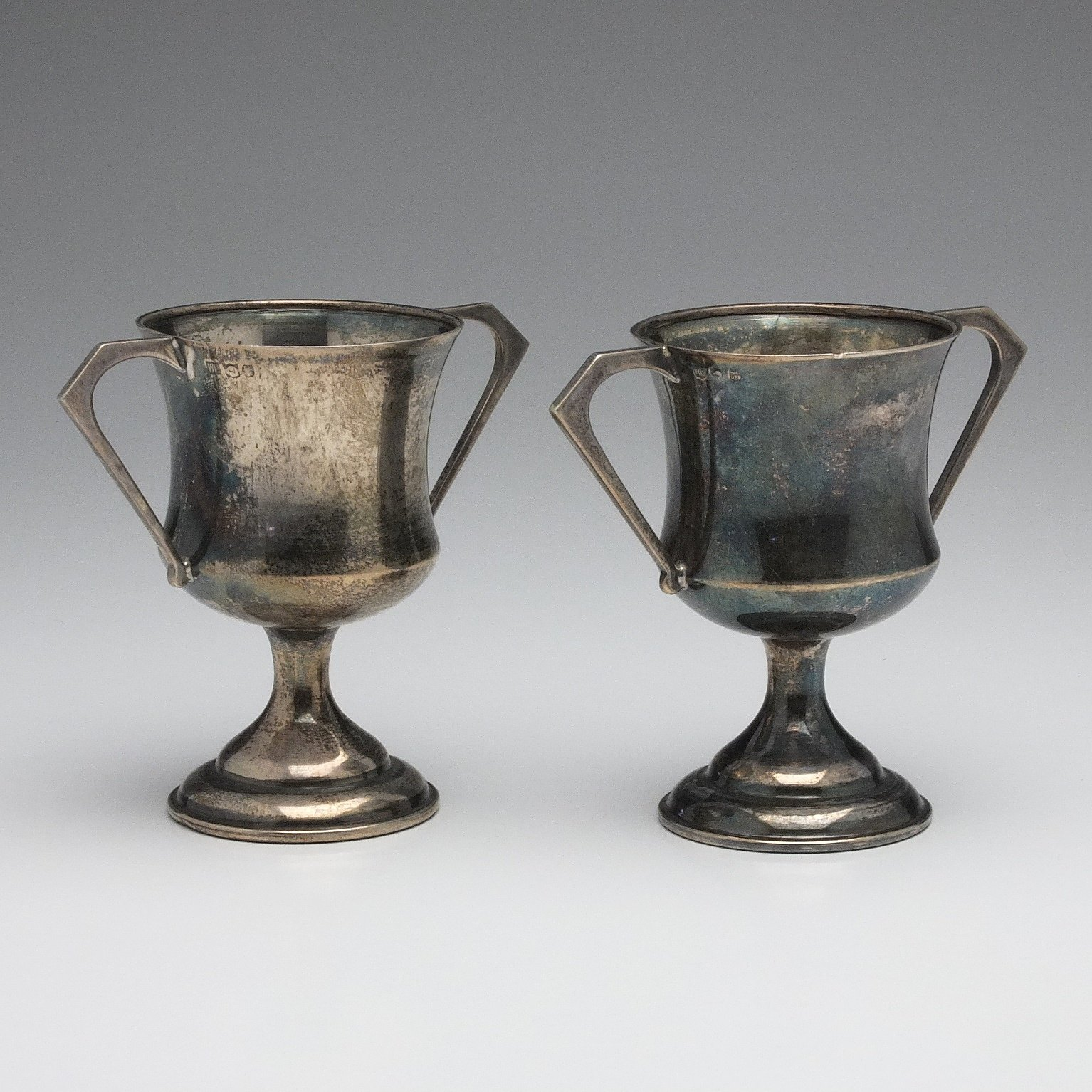 'Two Small Scottish Silver Trophies'