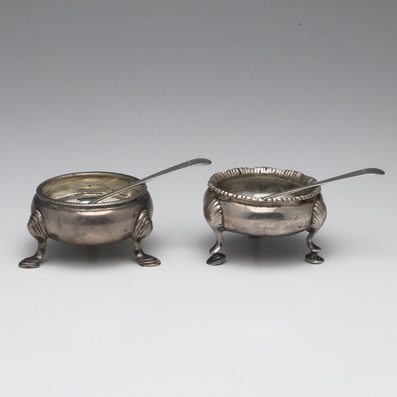 'Two Sterling Silver Open Salts, Including London 1766'
