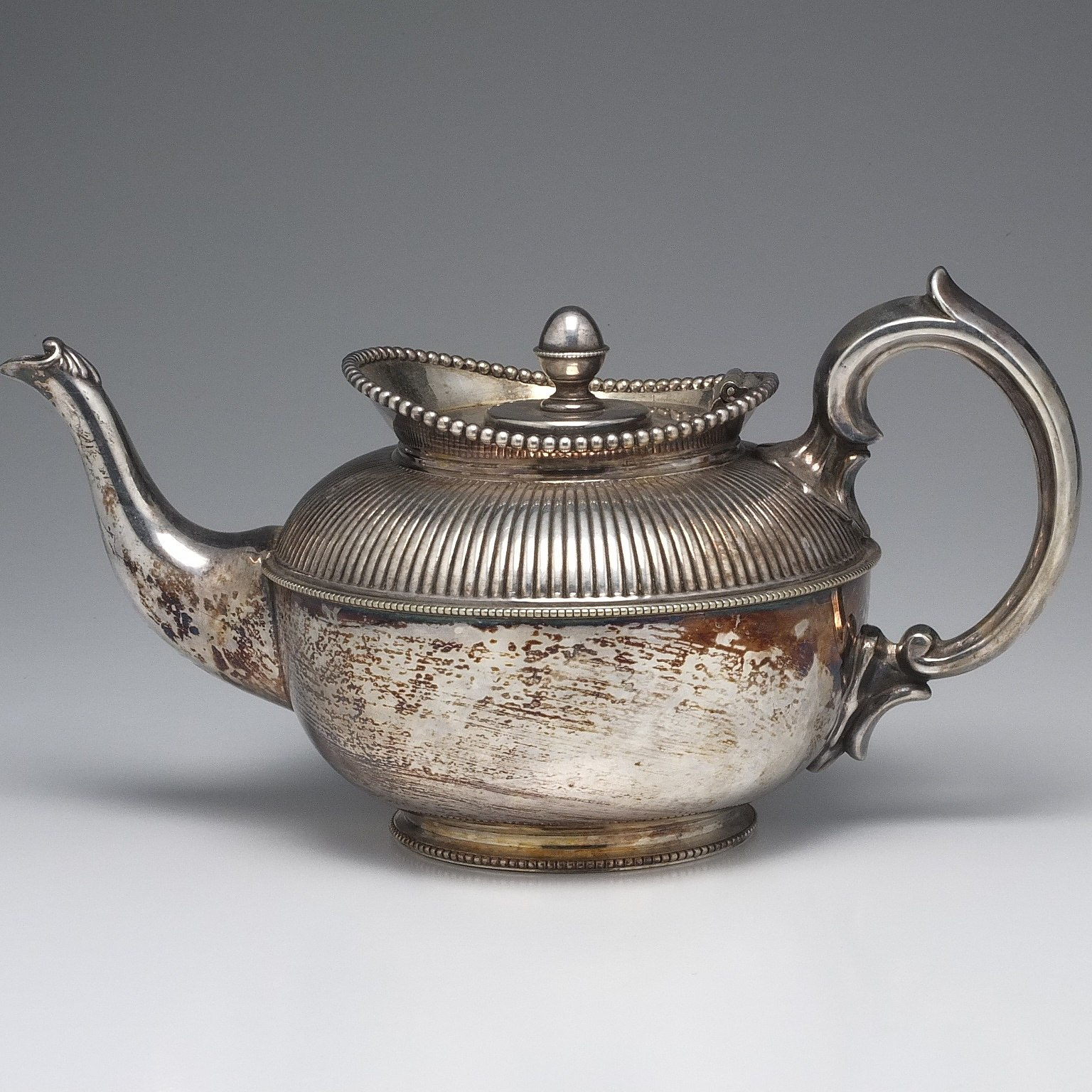 'Victorian Silver Plate Repousse and Chased Bachelors Teapot Circa 1875'