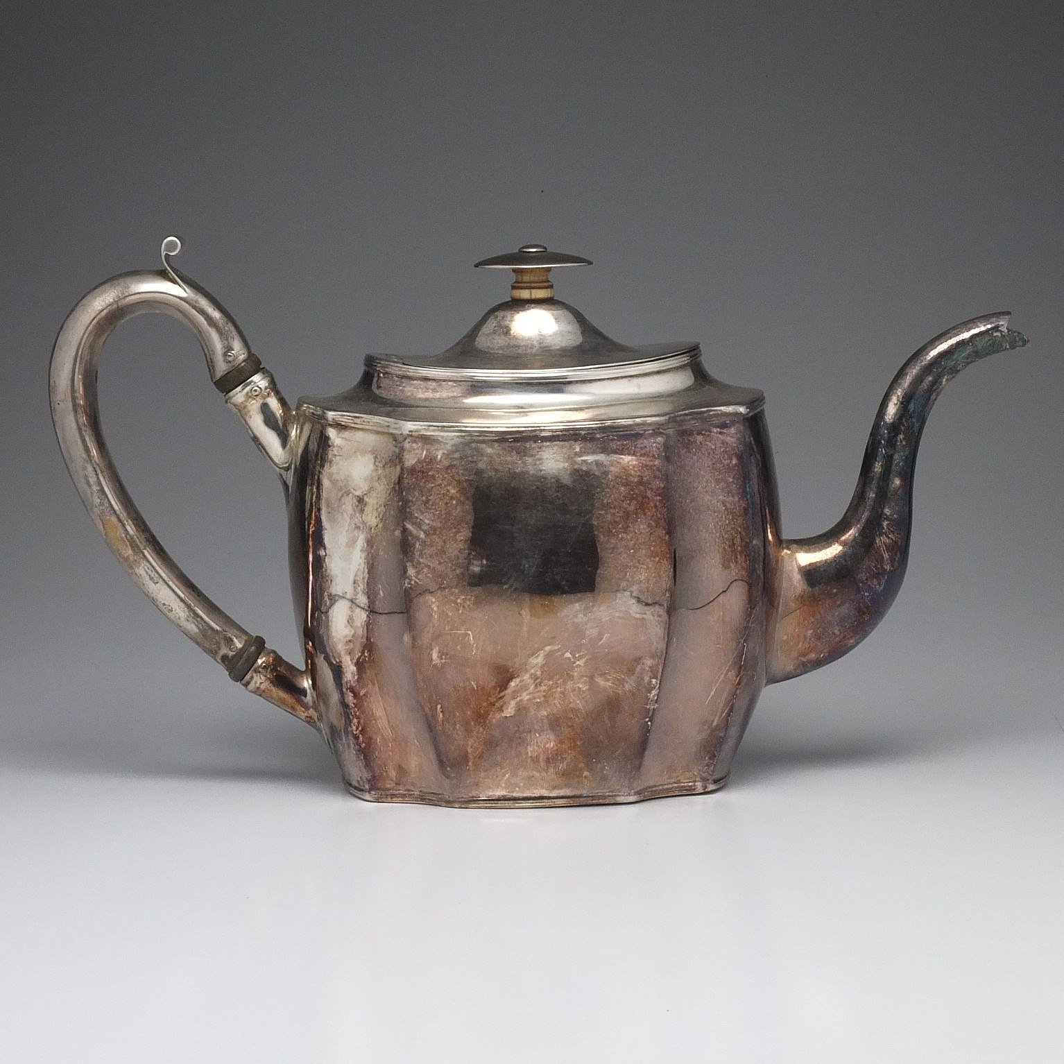 'George III Sterling Silver Teapot George Smith II & Thomas Hayter London 1804'