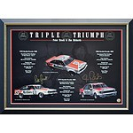 """Framed """"Triple Triumph"""" Licensed Limited Edition Print - Signed by Jim Richards"""