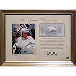 Framed Sir Jack Brabham, Le Grand Champion