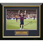 Framed & Signed Lionel Messi Celebration Photo