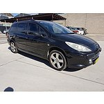 7/2006 Peugeot 307 XSE 2.0 Touring MY06 4d Wagon Black 2.0L