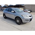10/2006 Mazda Cx-7 Luxury (4x4) ER 4d Wagon Silver 2.3L