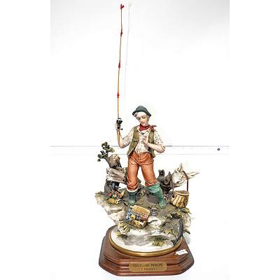 Capodimonte Porcelain Model of a Fisherman