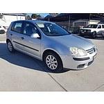 5/2006 Volkswagen Golf 2.0 TDI Comfortline 1K 5d Hatchback Silver 2.0L