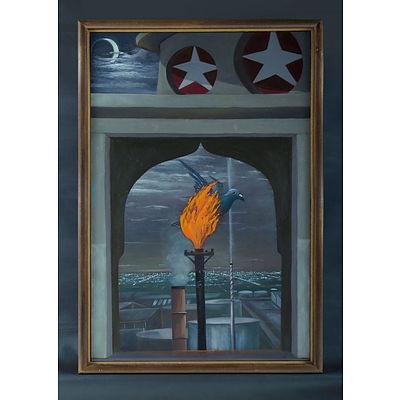 Searle, Ken (b.1951): 'Eternal Flame,' 1989.