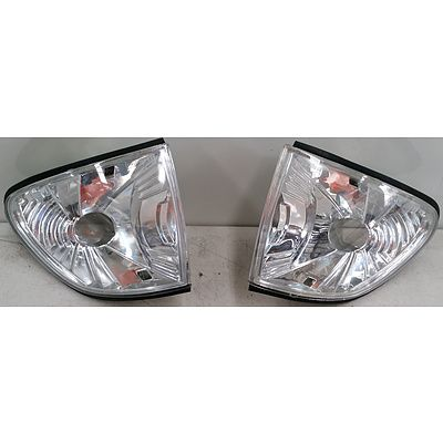 BMW 3 Series (E36) Left & Right Front Clear Indicator Lenses -2 Pair