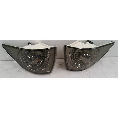 BMW E36 2 Door Left & Right Front Light Grey Indicator Lenses -2 Pair