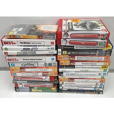 Collection of PlayStation2 Games, PC Games, and Nintendo Wii Games - RRP over $100