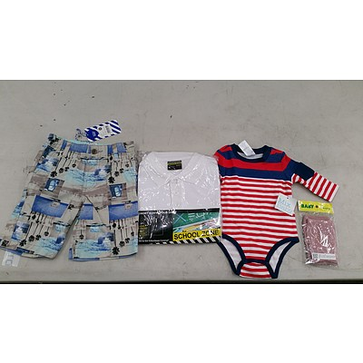 Bulk Lot of Brand New Babies' and Kids' Clothing