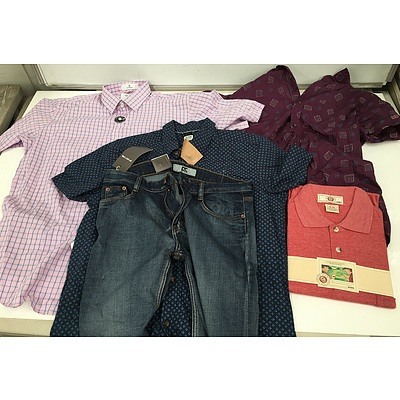 Bulk Lot of Brand New Men's Clothing - RRP Over $500