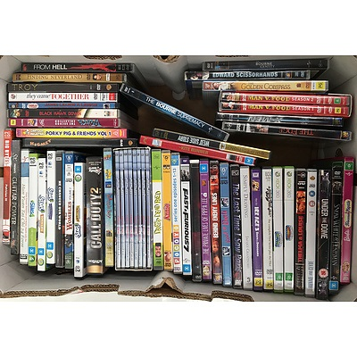 Collection of DVDs, PC Games, and Xbox 360 Games - RRP over $200