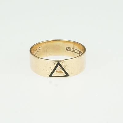 14ct Yellow Gold Masonic Ring Circa 1937