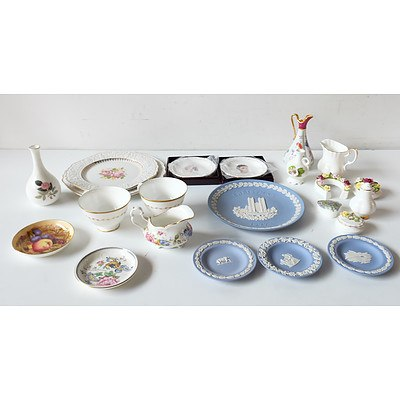 Group of English China Including Wedgwood Blue & White, Royal Albert and Coalport