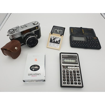 Hanimex V35 Camera, Casio Digital Diary and More