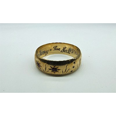 9ct Yellow Gold Friendship Ring