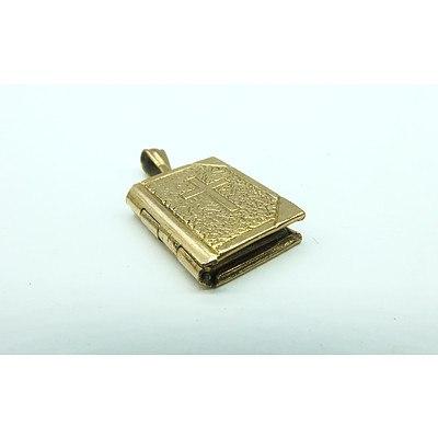 Rolled Gold Prayer Book Pendant