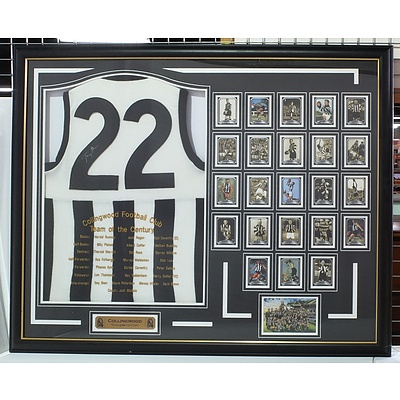 Collingwood Team of the Century Jersey signed by Tony Shaw
