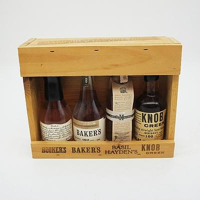 Mini Collection of Four Bourbons: Booker's Baker's Basil Hayden's Knob Creek