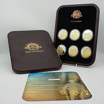 Ordinary People Extraordinary Service Sands of Gallipoli Set of Six Medallions